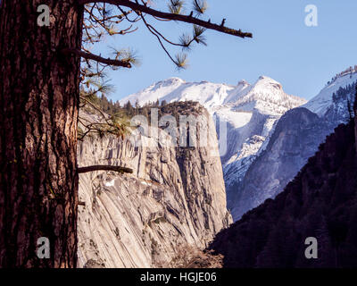 view on the snowy valley in national park saechsische schweiz saxon stock photo royalty free. Black Bedroom Furniture Sets. Home Design Ideas