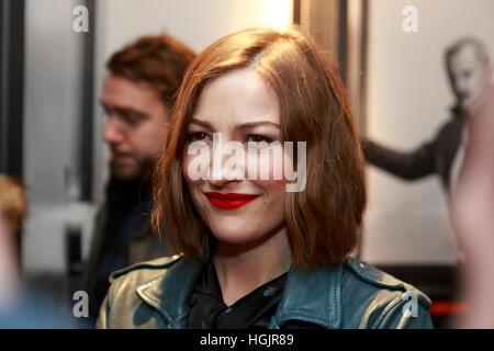 Edinburgh, UK. 22nd January, 2017. T2 Trainspotting premiere at Edinburgh Cineworld. Scotland. Pictured Kelly Macdonald. - Stock Photo
