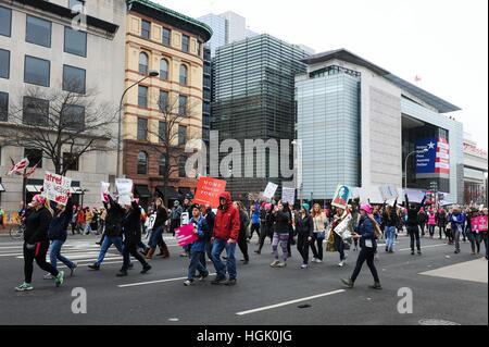 Washington, DC, USA. 21st Jan, 2017. in attendance for Women's March on Washington 2017, Washington, DC January - Stock Photo
