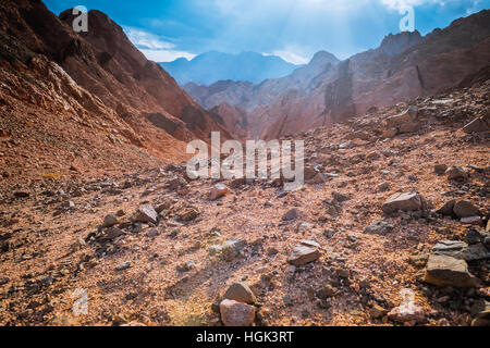 Mountain in Sinai desert Egypt - Stock Photo