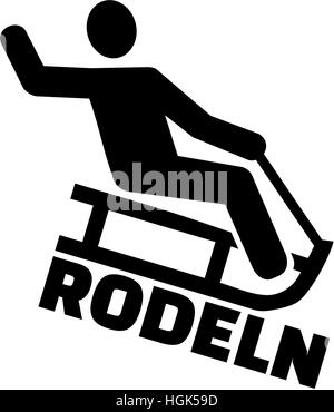 sledging pictogram stock photo 104868695 alamy World's Longest Snowmobile Jump banner 05 sledding pictogram with german word stock photo