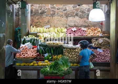 Central Market, Port Louis, Mauritius - Stock Photo