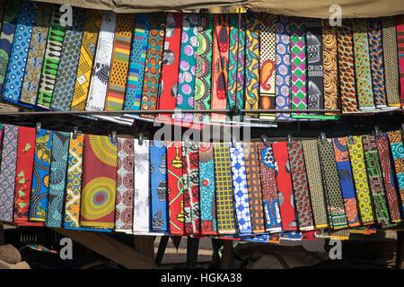 Dress patterns in Kasane, Botswana, Africa - Stock Photo