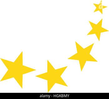 Falling yellow stars - Stock Photo