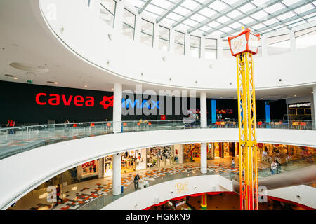 Tbilisi, Georgia - May 24, 2016: Cinema Cavea IMAX at the modern shopping mall East Point - Stock Photo