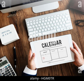 Calendar Appointment Agenda Schedule Planning Concept - Stock Photo