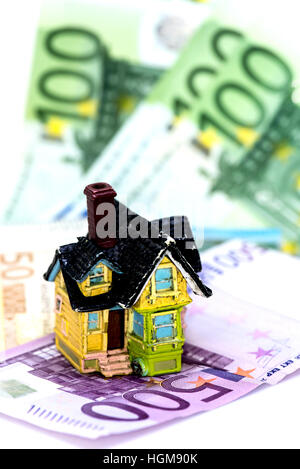 House and Euro money concept, buy or rent