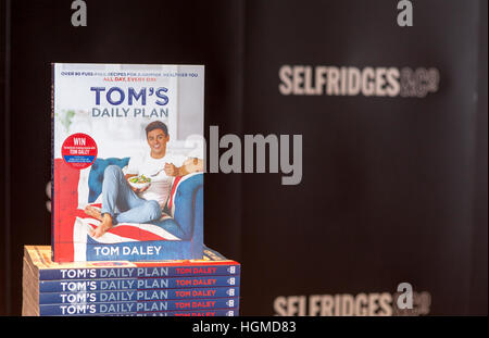 Tom Daley Book Signing, Trafford, Manchester, UK: 10th Jan 2017.  Olympic athlete & TV Presenter Tom Daley poses - Stock Photo