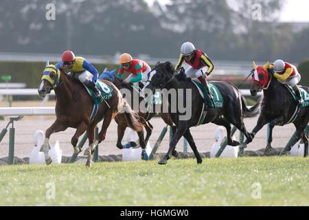 (L-R) Air Spinel (Yutaka Take), Meiner Honey (Daichi Shibata), Black Spinel (Yuichi Fukunaga), Kento O (Ryuji Wada), - Stock Photo