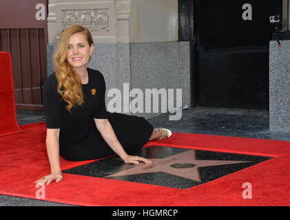 Los Angeles, USA. 11th Jan, 2017. Amy Adams at Hollywood Walk of Fame Star Ceremony honoring actress Amy Adams. - Stock Photo