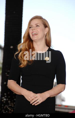 Los Angeles, USA. 11th Jan, 2017. Amy Adams at the induction ceremony for Star on the Hollywood Walk of Fame for - Stock Photo