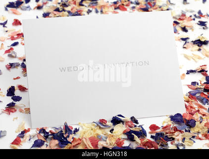 Bride and Groom wedding invitation - Stock Photo