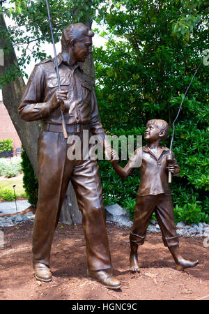 Mount Airy  in North Carolina is also known as Mayberry and it is a town caught in the past  in the 1950s - Stock Photo