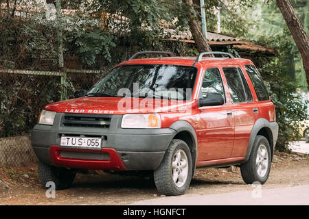 Tbilisi, Georgia - October 21, 2016: Land Rover Freelander is a compact sport utility vehicle (SUV) which was produced - Stock Photo
