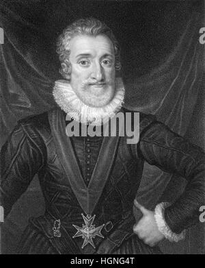 Henry IV, Henri IV, Henri Quatre, Heinrich IV., 1553-1610, King of Navarre as Henry III and King of France - Stock Photo