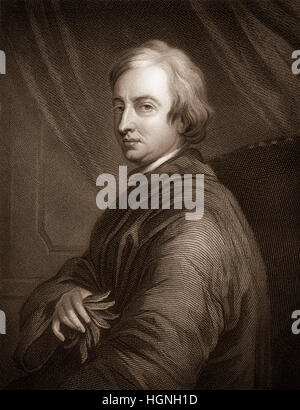 John Dryden, 1631 - 1700, an English poet, literary critic and playwright, John Dryden, 1631 - 1700, ein englischer - Stock Photo