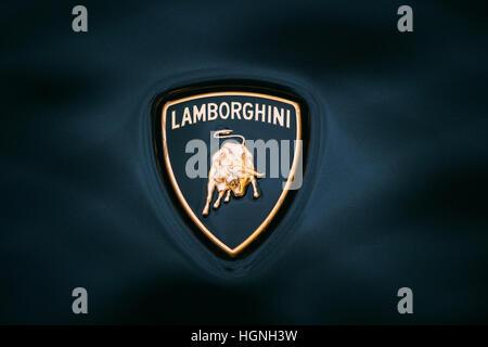 Close Up Detail Of A Yellow Lamborghini Diablo Stock Photo 20786711