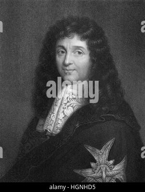 Jean-Baptiste Colbert, Marquis de Seignelay, 1619 - 1683, a French statesman and finance minister, founder of mercantilism - Stock Photo