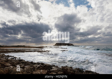 Geronisos Island in winter, near Pegeia, Cyprus - Stock Photo