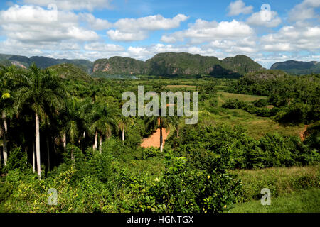 Nature and landscape, view of hills and mountains in Viñales, Vinales, Pinar del Rio, Cuba - Stock Photo