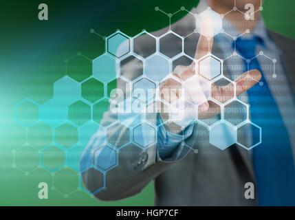 Virtual interface - Stock Photo