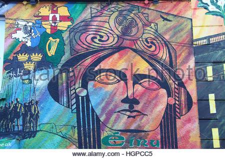 Irish republican easter centenary mural at international for Easter rising mural