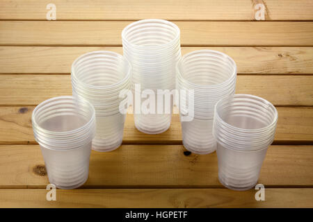 Plastic Cups - Stock Photo