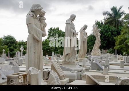 Christopher Columbus cemetery (Cementerio de Cristóbal Colón) in Havana, Cuba - Stock Photo