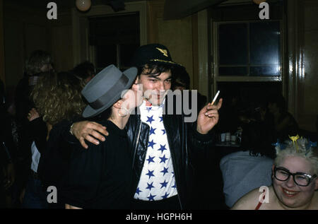 Culture Club's Jon Moss at Harry's Bar in London mid 80s - Stock Photo