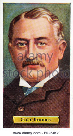 Cecil John Rhodes 1853 -1902, British businessman and politician in South Africa - Stock Photo