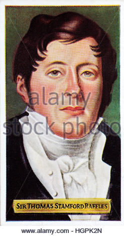 Sir Thomas Stamford Raffles 1781–1826, British statesman known for founding Singapore - Stock Photo
