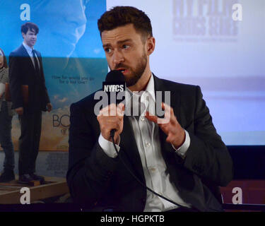 Justin Timberlake arrives at the premiere of Electric Entertainment's 'The Book Of Love' at Pacific Theatres at - Stock Photo
