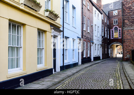 Kingston-Upon-Hull ,East Riding of Yorkshire,UK .Prince street old town Hull. - Stock Photo