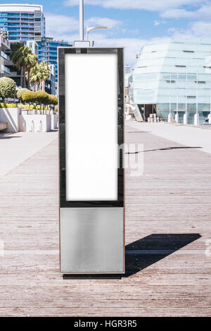 Blank billboard outdoors, outdoor advertising mock up, - Stock Photo