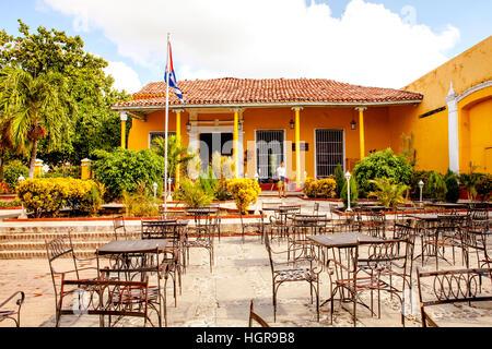 Trinidad, Cuba - December 18, 2016: The Casa de la Musíca is a popular music venue and restaurant in Trinidad / - Stock Photo
