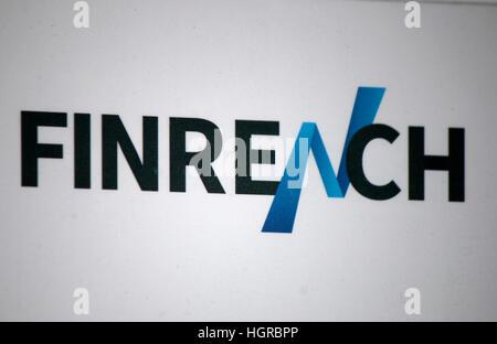 das Logo der Marke 'Finreach', Berlin. - Stock Photo