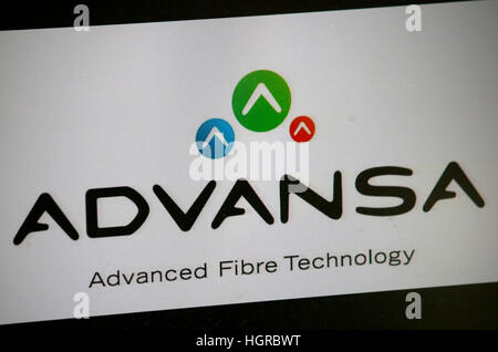 das Logo der Marke 'Advansa'. - Stock Photo