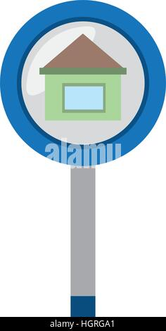real estate house sign road vector illustration eps 10 - Stock Photo
