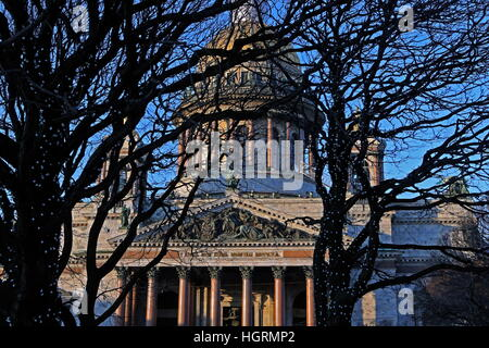 St Petersburg, Russia. 12th Jan, 2017. St Isaac's Cathedral. © Alexander Demianchuk/TASS/Alamy Live News - Stock Photo