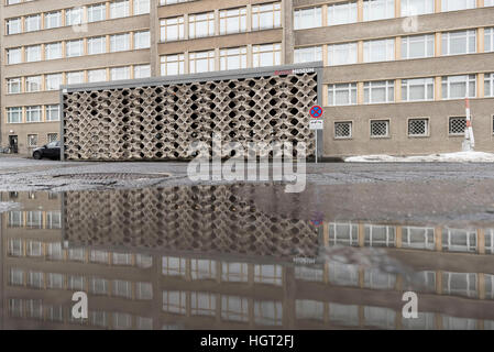 Berlin, Germany. 13th Jan, 2017. The entrance to the Stasi Museum in Berlin, Germany, 13 January 2017. The building - Stock Photo