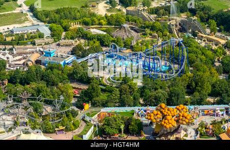 Gardaland amusement park, roller coaster, Ronchi, Veneto region, Italy - Stock Photo
