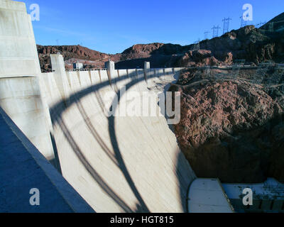 Hoover Dam in United States of America. - Stock Photo