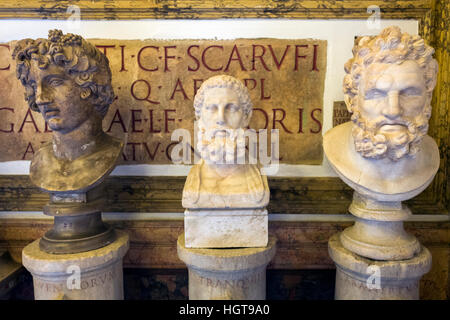 roman art in the emperor hall exhibited at the Capitoline Museum in Rome - Stock Photo