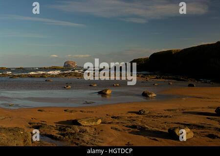 Bass Rock from North Berwick, Scotland - Stock Photo