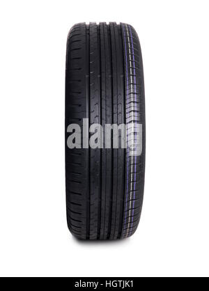 Car Tire isolated on white - Stock Photo