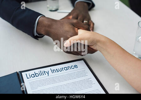 Application Form Hand Shake Agreement Concept - Stock Photo