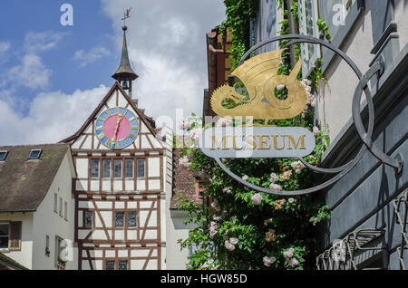 Town Gate, Stein am Rhein, Lake Constance, Schaffhausen, Suisse - Stock Photo
