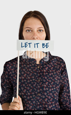 Let It Be Move On Carefree Ignorance Acceptance Concept - Stock Photo