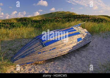 altes Fischerboot, Kampen, Sylt, nordfriesische Inseln, Nordfriesland, Schleswig-Holstein, Deutschland - Stock Photo