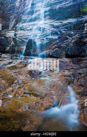 Arethusa Falls in Crawford Notch State Park in New Hampshire's White Mountains. - Stock Photo